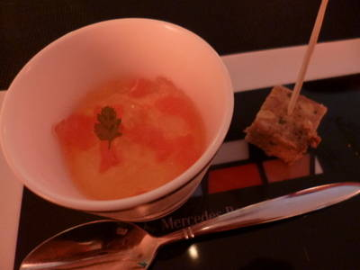 にんじんのムースとパテ ド カンパーニュ