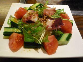蛸と水菜のシャキシャキサラダ