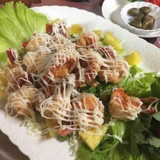 鳳梨蝦球(蝦とパイナップルの台湾マヨネーズ風)