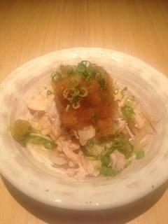 鶏ササミの柚子胡椒ポン酢