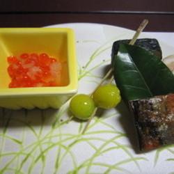 いくらと銀杏と焼き魚