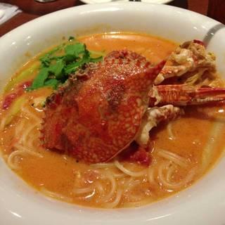 渡り蟹丸ごとトマトクリームスープスパゲッティ