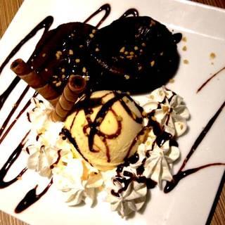 フォンダンショコラ&バニラアイス
