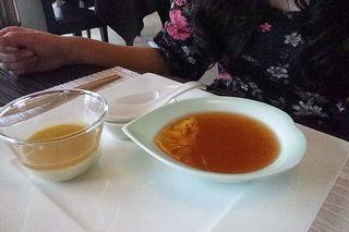 牡蠣風味の柔らか卵豆腐とふかひれとろみスープ