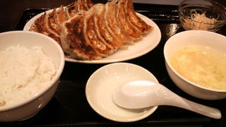 安亭の焼餃子定食 ライス・スープ・小鉢付