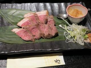 イチボ肉のロゼステーキ