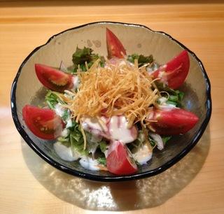 合鴨とフルーツトマトのサラダ
