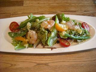 海老とインゲンのサラダ