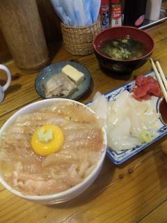 松川カレイの漬け丼