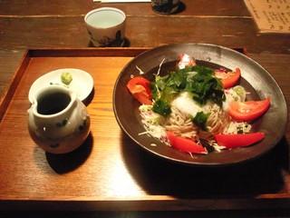 夏野菜の蕎麦