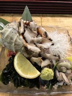 ニシ貝のお造り