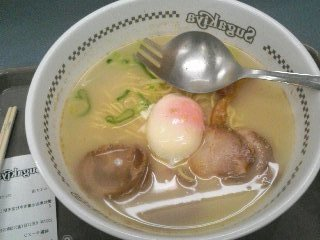 卵入りラーメン