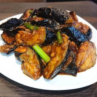 ナスと豚挽肉の味噌炒め