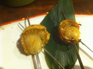 大玉ホタテのバター醤油串(2本)
