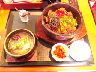 石焼ビビンバ&ミニ参鶏湯セット