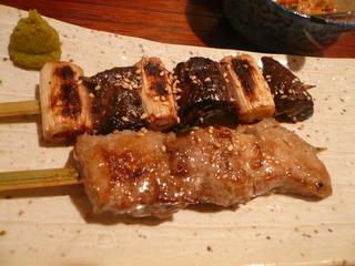 ほほ肉の串焼き
