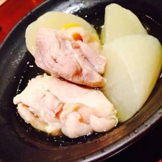 鶏肉と有機大根の煮付け