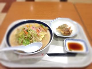 ミドルちゃんぽんセット(ぎょうざ3個)