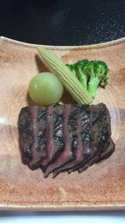 国産牛のランプステーキ