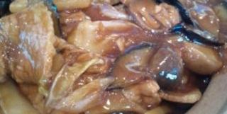 茄子と豚肉の土鍋ご飯