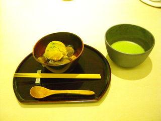 抹茶とわらびもち&きなこアイスのセット