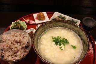 いしみね豆腐のゆし豆腐定食