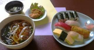 寿司うどん定食