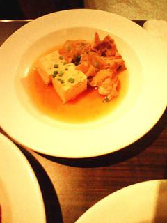地鶏と国産豆腐の煮込み 柚子胡椒風味