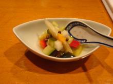グリーントマトと緑黄色野菜の四川風ピクルス