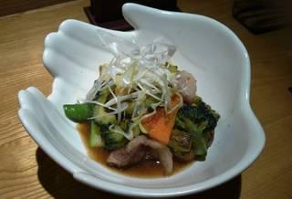 イベリコ豚と季節野菜の炒め