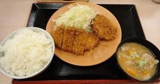 ロースカツ&メンチ定食