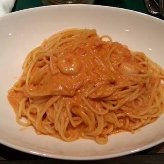 小海老のトマトクリームパスタ