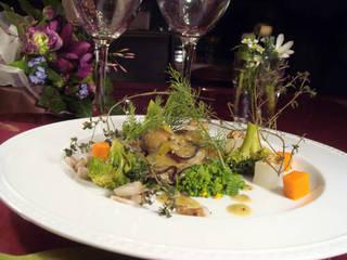 牡蠣のソテーふきのとうのソース