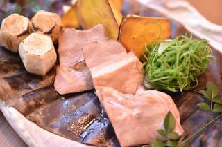 合鴨の朴葉焼き