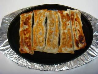 豚の挽肉と海老いり鉄棒餃子