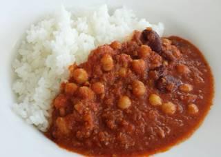 豆と挽き肉のカレーライス
