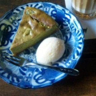 抹茶のチーズケーキ