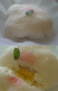 白桃のチーズケーキ