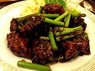 鶏肉の黒酢定食