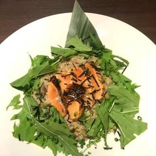 秋野菜と雑穀米のリゾット