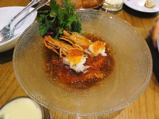 貝殻荘の海の幸贅沢サラダ