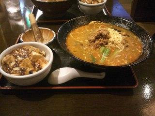 坦々麺+ミニ丼セット
