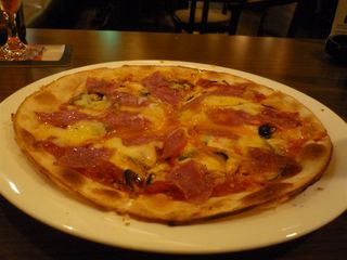 イベリコ豚のサラミと太陽のピザ