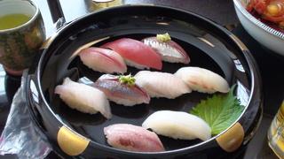 地魚にぎり定食