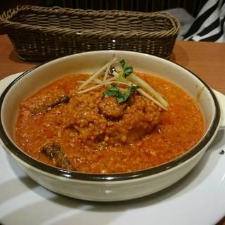 茄子とキーマの煮込みTONバーグ(ナン付)