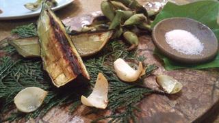 旬野菜の薪釜焼き