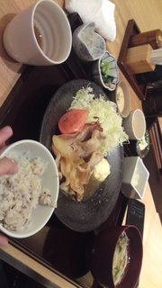 和風生姜焼き定食