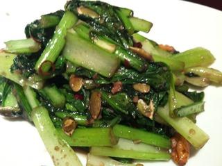 青菜の鉄板炒め