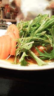 サーモンと水菜のポン酢サラダ仕立て