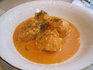 鶏肉団子トマトクリームソース